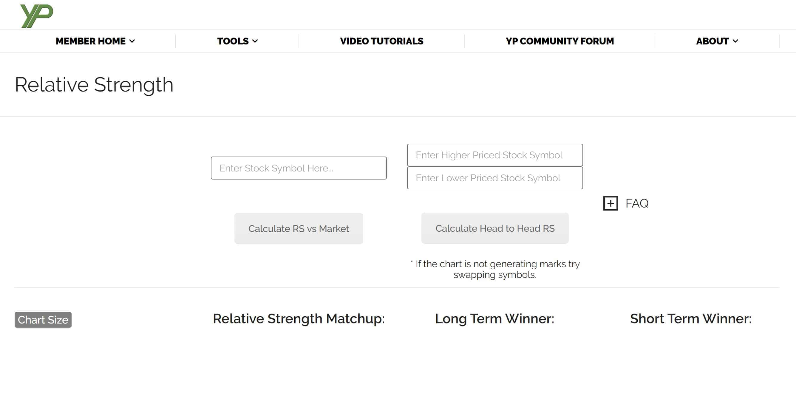 Relative Strength Tool